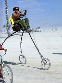 Weird bikes rule at Burning Man