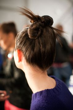 Modern bun from fashion week 2013! Hair by bumble and bumble. #bumbleandbumble #nyfw #nyfw2013
