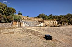 https://flic.kr/p/LnKmer   The Odeon (Theatre). Acropolis of Rhodes (Greece)   The Odeon is located to the Northwest of the Stadium. It had a capacity to accommodate 800 spectators and archaeologists are of the opinion that the Odeon was used for musical performances or for conducting classes in rhetoric. Acropolis of Rhodes (Greece)