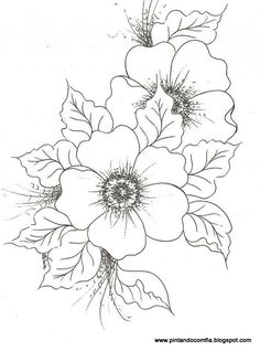 nice flower print - now if I could color, blend and shade.