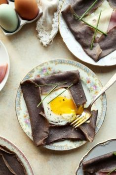Save the recipe! World's Best Food, Good Food, Emmental Cheese, Buckwheat Crepes, Sliced Ham, Crepe Recipes, Best Dishes, Ham And Cheese, Recipe Of The Day