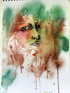She 5 Watercolour and ink Watercolor And Ink, Beautiful Artwork, Great Artists, Watercolors, Sketches, Fine Art, Board, Prints, Painting