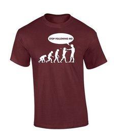Evolution shirt Stop Following Me Caveman Men's Funny T Shirt Custom Mens Brand Short Sleeve O-Neck Shirt 100% Cotton T-Shirt