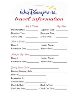 Disney Binder Page