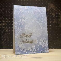 My Papercraft Corner - Happy Holiday Card #393. I Card, Happy Holidays, Holiday Cards, Card Making, About Me Blog, Corner, Stamp, Stamps, Cardmaking