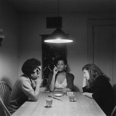 "Carrie Mae Weems ""Woman and Friends"" (1990) from series of works set at tables"