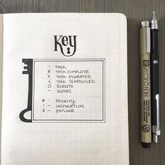 Traditional bullets and signifiers  Keeping it simple...bullet journal key. #bulletjournal #handlettering…