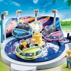 Playmobil Summer Fun Spinning Spaceship Ride With Lights- Model 5554 (4-10