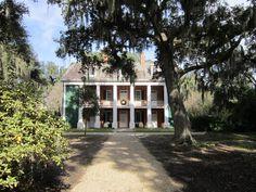 Shadows on the Teche plantation home in New Iberia, Louisiana.