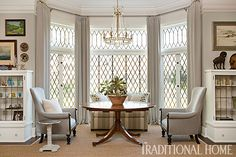 I have often thought of expanding the window like this!  Beautifully Updated Tudor-Style Home | Traditional Home