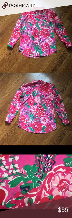 Lilly Pulitzer Blouse Sz. Small Beautiful Lilly Pulitzer Blouse • Sz. Small • Timeless Design • Gently Used • Excellent Condition • No Tears, Stains or Other Issues • From a Smoke Free Home Lilly Pulitzer Tops Button Down Shirts