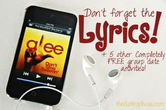 Don't forget the lyrics and 5 FREE group date activities from The Dating Divas