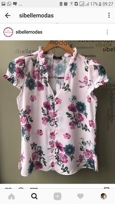 Floral Style, Floral Tops, Floral Prints, Cool Outfits, Fashion Outfits, Womens Fashion, Shirt Blouses, Shirts, Lovely Dresses