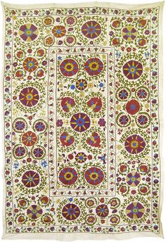 Silk and cotton handmade suzani from Uzbekistan / by SULTANSHOP