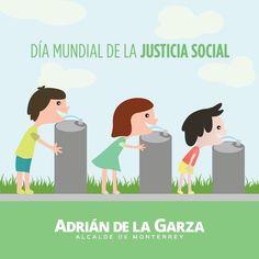 Quiero un Monterrey sin barreras, justo, nadie debe de ser discriminado por motivos de géneros, edad, raza, religión o cultura, todos debemos poder convivir pacíficamente y tener las mismas oportunidades. Día Mundial de la justicia social.
