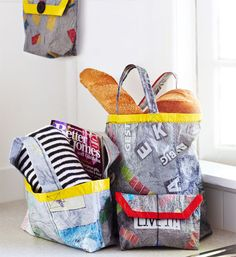 How to make bags from recycled plastic bags - Better Homes and Gardens - Yahoo!7