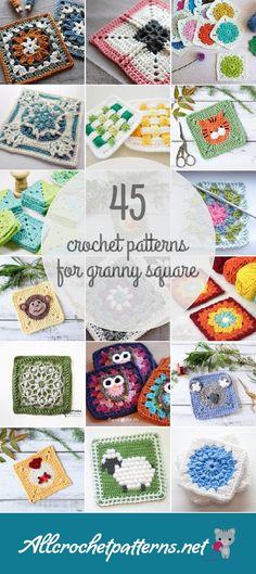 45 Granny Square Crochet Patterns