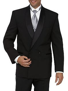 Tux with vest and tie