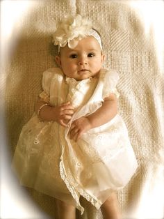 A personal favorite from my Etsy shop https://www.etsy.com/listing/205871175/ivory-headband-lace-headband-baby