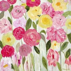 PrestigeArtStudios Margaret's Flowers Painting Print
