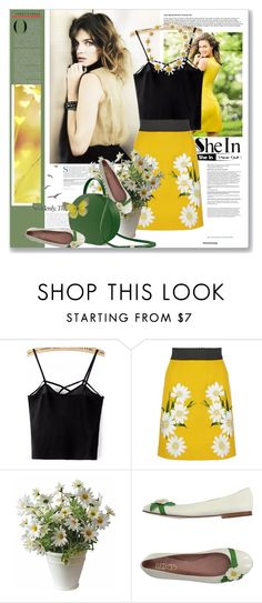 """""""Spaghetti Black Top"""" by astromeria ❤ liked on Polyvore featuring Dolce&Gabbana and RED Valentino"""