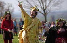 Legends and Lore of the Beltane Season: Modern Pagans celebrate Beltane each year in Glastonbury.
