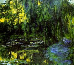 Water-Lily Pond and Weeping Willow, 1916–1919. Claude Monet (1820–1910).