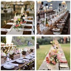 Tables mariage champêtre