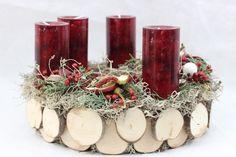 """Adventskranz - Adventskranz / Weihnachtskranz """"Baumscheib... - ein Designerstück von blumen-Design-by-Dueck bei DaWanda"""
