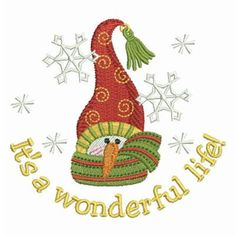 Winter Snowman Let It Snow Holiday Machine Embroidery Design