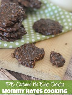PB Chocolate Oatmeal No Bake Cookies I Mommy Hates Cooking