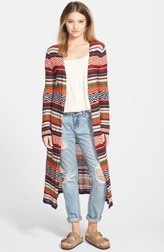 Billabong 'Shadow Stripe' Long Sweater available at #Nordstrom