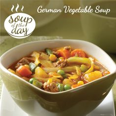 German Vegetable Soup Recipe from Taste of Home -- shared by undrun Braker, Burnett, Wisconsin