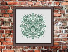Mandala, Counted Cross stitch, Pattern PDF, Cross Stitch Chart , Cute Cross Stitch, Cross stitch pattern, pixel art, 0267