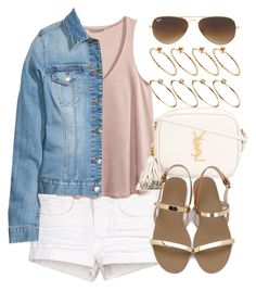 """""""Style  #10763"""" by vany-alvarado ❤ liked on Polyvore featuring H&M, Yves Saint Laurent, Ray-Ban and ASOS"""