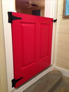 Dutch Door Half No More Baby Gate Dutchdoor Reddoor Diy
