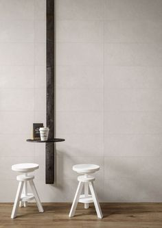 Find your collection by nameChalkMarazzi - Discover Chalk on Marazzi. Concrete effect for a contemporary style. Geometric patterns and neutral colors for public and private spaces. White Tiles, Wall Tiles, Neutral Colors, Contemporary Style, Stoneware, Concrete, Pastel, Design, Home Decor