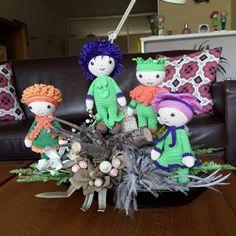 Gehaakte Bloemenpoppen gemaakt door Marijke K - haakpatroon van Zabbez uit het boek Bloemenpoppen Haken