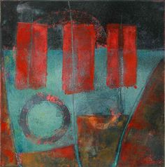 """Waiting in the Wings, by Anne Moore, monotype, 10""""X 10"""""""