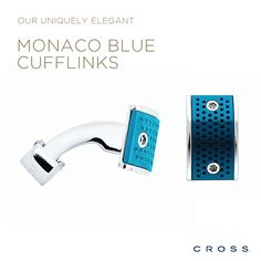 Pinterest Pin - Our uniquely elegant Monaco Blue Cufflinks.