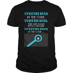 PROGRAMMER: 99 LITTLE BUGS - 99 Bugs In The Code T-shirt (Programmer Tshirts)