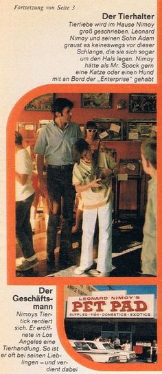 Leonard Nimoy's Pet Pad - His exotic animal store in Canoga Park which opened in 1969.