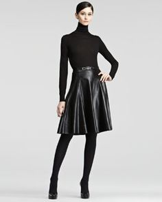 Ralph Lauren Collection Veronica A-Line Leather Skirt....very sexy!
