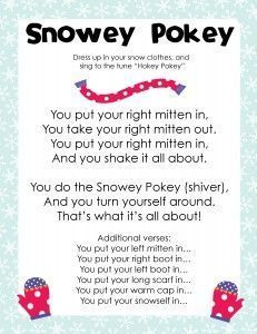 Snowey Pokey Song Activity