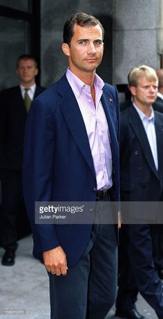 Crown Prince Felipe Of Spain At The Grand Hotel, Before Attending A Gala Dinner, Prior To The Wedding Of Crown Prince Haakon & Mette-Marit Of Norway. .