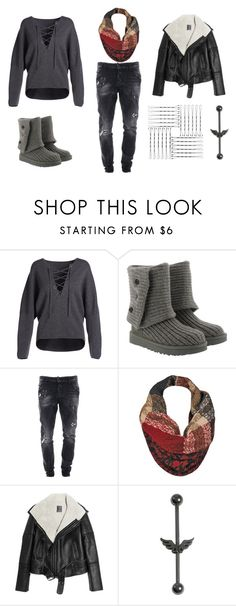 """""""Untitled #694"""" by akts on Polyvore featuring Vince, UGG, Dsquared2 and Lot78"""