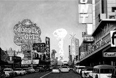 Las Vegas mushroom cloud - 1953 -bomb detonation was 75 miles away Las Vegas, Mushroom Cloud, Atomic Age, Signs, Photos, Pictures, Stuffed Mushrooms, Old Things, Clouds
