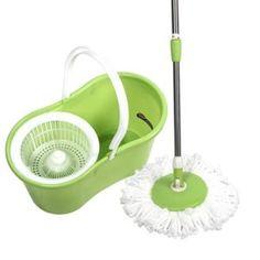 Best Deal Depot PRO 360 Rotating Spin Magic Mop Bucket No Foot Pedal Green