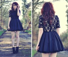 Peter Pan Collar Lace Dress