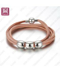 2014 bijoux bracelet en véritable cuir de vente chaude